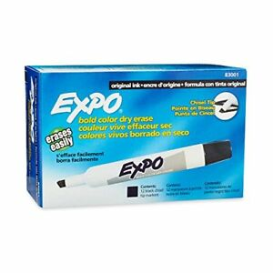 Expo Original Dry Erase Markers Chisel Tip Black 12 count