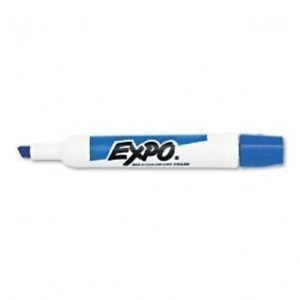 Expo Original Dry Erase Markers Blue Chisel Tip 2 Packs Of 12 Total Of 24