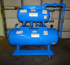 Dual Tank Wash Down System 120 Gallon Horizontal Air Tank 30 Gallon Tank