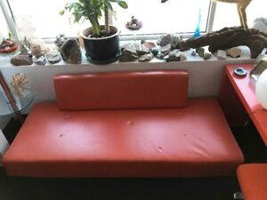 Mid Century Danish Modern Sofa Daybed Eames Era Orange