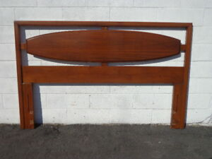 Mid Century Modern Headboard Lane Solid Wood Mcm Danish Queen Bed Modern Vintage