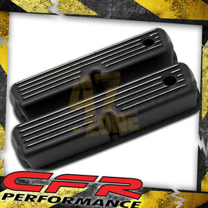 Al 1962 85 Ford Sb 289 302 351w 5 0 Tall Valve Covers Polished Finned Black