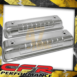 1955 64 Ford Y block 272 292 312 Valve Covers Chrome