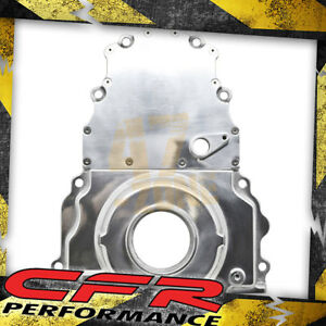 Aluminum Chevy Ls Two Piece Timing Chain Cover W Cam Sensor Hole Polished