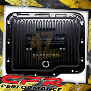 Chevy Gm Powerglide Steel Transmission Pan Black