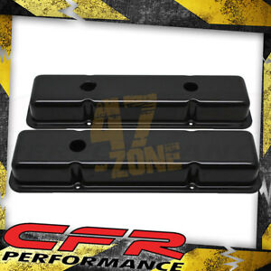 Steel 1958 86 Chevy Sb 283 305 327 350 400 Smooth Short Valve Covers Black