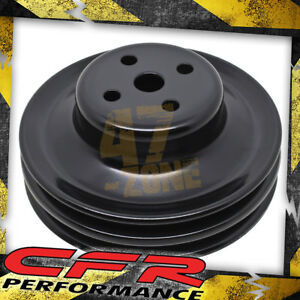 Steel Ford Sb 1965 1966 Water Pump Pulley 2 Groove Black
