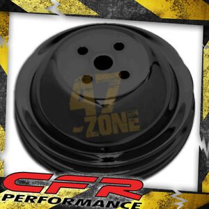 1955 68 Chevy Big Block Black Steel Water Pump Pulley 2 Groove Short