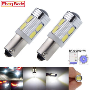 2 X New White Bay9s H21w 64136 120 5630 Led Reverse Projector Light Lamp Bulbs