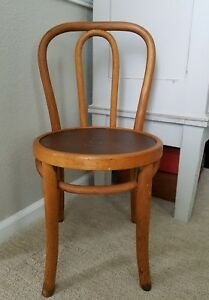 Vintage Bentwood Parlor Childrens Chair Wood Mid Century Modern Thonet Style