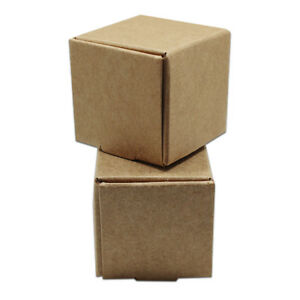 50x Brown Foldable Kraft Paper Box Wedding Favor Party Gift Candy Jewelry Packs