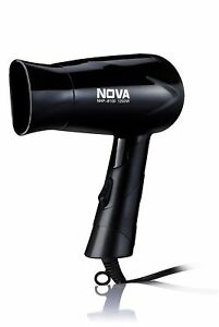 Nova Nhp 8100 Silky Shine 1200 W Hot And Cold Foldable Hair Dryer Black Colour