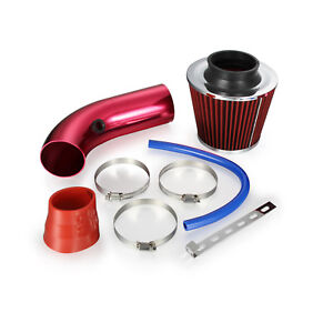 3 Universal Car Cold Air Intake Filter Alumimum Induction Kit Hose Pipe 76mm