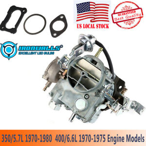 2 Barrels Carb Carburetor Type For Rochester Chevy 2gc 307 350 400 Venturi 1 57