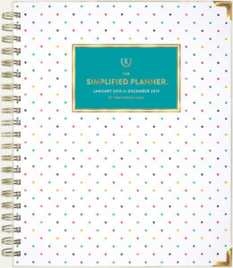 Emily Ley Simplified Planner 2019 Hardcover Weekly monthly Happy Dot At A Glance