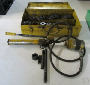 Enerpac Sp62 1 2 4 Hydraulic Knockout Punch Set Free Shipping