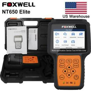 Foxwell Nt650 Obd2 Automotive Scanner Abs Airbag Sas Epb Dpf Oil Service Reset