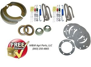 Ford 9n 2n Tractor Brake Shoe Repair Kit W Shoes Brake Hardware Axle Seals