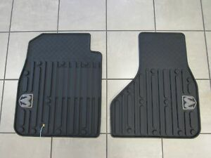 Dodge Ram Reg Quad Cab Front Slush Floor Mats Dark Slate New Oem Mopar
