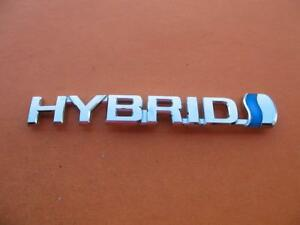 07 08 09 Toyota Prius Hybrid Right Fender Chrome Emblem Logo Badge Sign Oem 3
