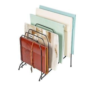 Mesh 8 Incline Sorter Magazine File Organizer Wire Collection Black 4 pack