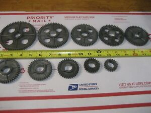 Very Nice Complete Set Of 10 Atlas Craftsman 10 12 Lathe Threading Change Gears