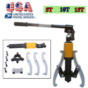 Usa Hydraulic Gear Puller Pumps Oil Tube 3 Jaws Drawing Machine 5t 10t 15t Opt