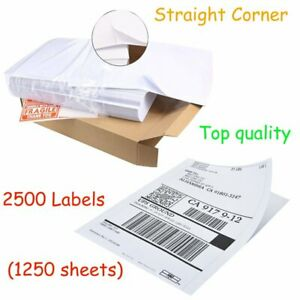 2500 Half Sheet 8 5x5 5 Postage Mailing Shipping Labels Direct Corner Ups Usps