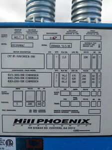 Low Temp Hill Phoenix Compressors Refrigeration Rack Systems