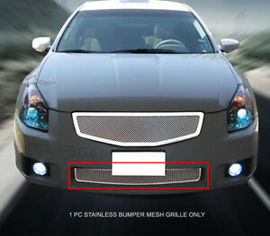 Fits 2007 2008 Nissan Maxima Stainless Steel Mesh Grille Bumper Insert Fedar