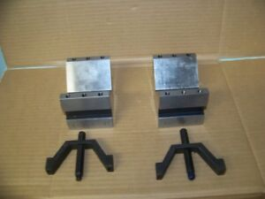 Suburban Tool Matched Pair Of Machinist V Blocks 4 X 3 X 3 With Clamps 47