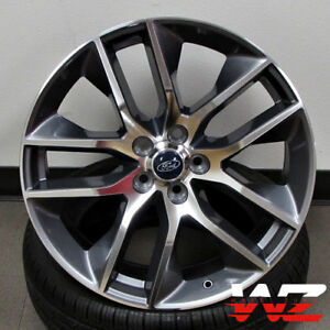 20 Ford Mustang Style Wheels Gunmetal Machined Fits Ford Mustang 5x4 5