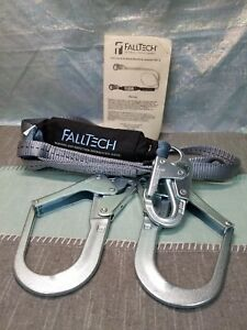 Falltech 826073 Y leg For 100 Tie off With Snap And 2 Rebar Hooks Brand New