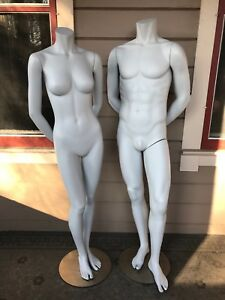 Mannequins Male Female Pair 5 Foot Full Size Magnetic Limbs