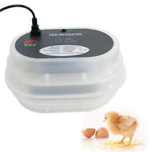 Electric Digital Egg Incubator Hatcher Automatic Turning Hatch Poultry Chicken