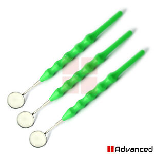 X3 Dental Green Color Handle With Mouth Mirror 5 Teeth Cavity Inspection Tools