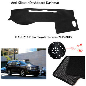 Dashboard Cover Dashmat For Toyota Tacoma 2005 2015 Carpet Dash Mat Pad Black