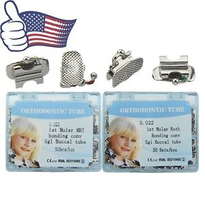 Us 200pcs Dental Orthodontic First Molar Buccal Tubes Covertible 022 Mbt Roth