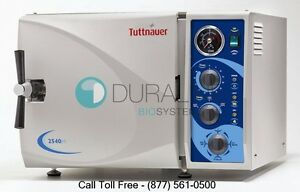 New Tuttnauer 2540m Manual Autoclave Steam Sterilizer With 1 Year Warranty