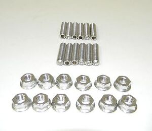 Sbc 283 302 Stainless Steel Header Stud Kit Small Block Chevy 1 1 2 Long