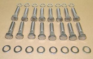 Chevy Bb 454 502 Custom Sized Stainless Steel Intake Manifold Bolt Kit New