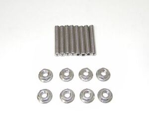 Small Block Dodge Plymouth Mopar Stainless Steel Dual Quad Carb Stud Kit New