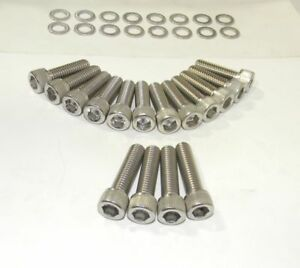 Ford Torino Fe 390 428 Stock Exhaust Bolts Stainless Steel Socket Hd New