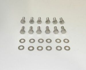 Bb Dodge Mopar 440 Hex Head Stainless Steel Bolts For Cast Valve Covers New