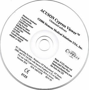 Acuson Cypress Ultrasound Viewer Software