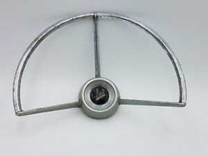 Vtg Ford Falcon Oem Steering Wheel Center Horn Chrome 11 1 4 Ratrod 60 61 62 63
