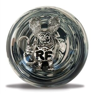 Rat Fink Black White Shift Knob Hot Rod Gasser Chopper Suicide Jockey Ra303whbk