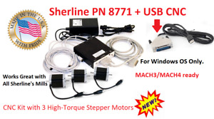 Sherline Pn 8771 Usb Cnc High Torgue Step Motors Mill Kit for Windows Os