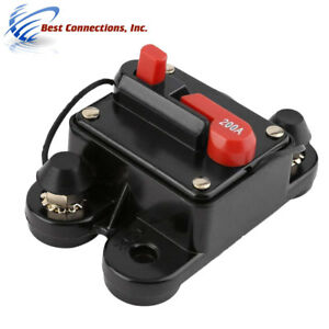 200 Amp Circuit Breaker In line 12v 24v Auto Marine Car Stereo Audio 200a Reset
