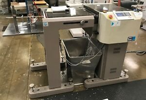 2013 2012 Cem Mp601pa Cutter With Sinking Stacker serial No 35850 35834